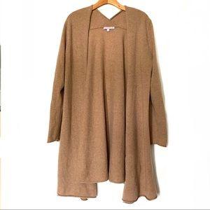 Calypso Tan Brown 100% Cashmere Sweater Wrap L 12